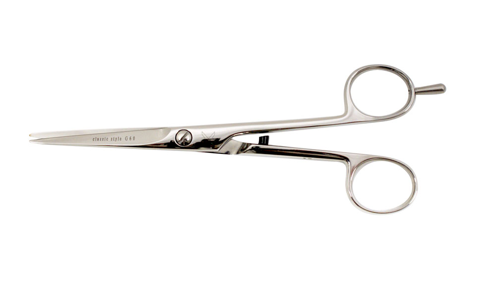 Classic- hairdressing shear stainless steel, polished 5″