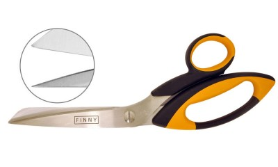 Finny- heavy duty with one blade serrated 10″